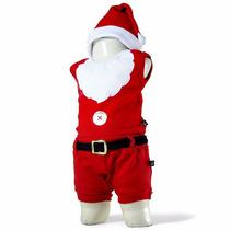 Body Divertido Papai Noel Regata Gorro Short Natal