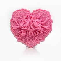 10 Coração De Rendas E Flores Feitos De Sabonete Artesanal