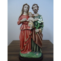 Kit Imagens Gesso Sagrada Família Com 04 Lindas Esculturas