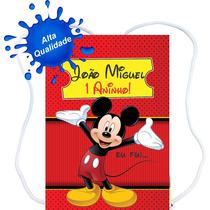 60 Mochilinhas Sacolinhas Personalizadas Mickey Minnie