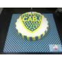 Boca Juniors Torta 3k Decorada Cumpleaños