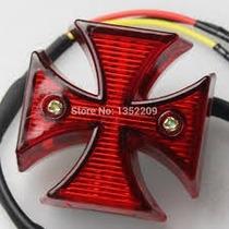 Mini Lanterna De Freio Cruz De Malta Motos Custom