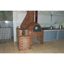 Forno De Pizza Iglu Com Fogão A Lenha 3 Bocas Em Tijolo M...