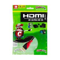 Cabo Micro Hdmi Para Hdmi 1.4 Ultra Hd 3d, 1 Metro