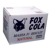 Cx Massa De Biscuit Fox Natural 1kg / 10 Unidades