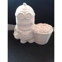 30 Alcancias De Minions En Ceramica En Blanco Para Pintar