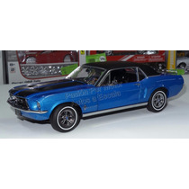 1:18 Ford Mustang Hard Top 1967 Ski Country Azul Greenlight