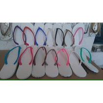 Sandalias Blancas Para Serigrafía