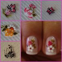 100 Adesivos Unha Pelicula Artesanal Top Nail Art Mão Brinde