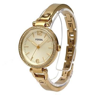 d21af747b8 Relógio Feminino Fossil Es3227 Dourado Georgia Novo Original - R ...