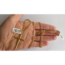 Cordão Corrente Cartier + Pingente Em Ouro 18k 750