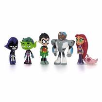 Jovens Titans - Ravena Mutano Robin Cyborg Estelar E Silkie