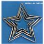 Cortadores De Reposteria Estrella 5 Puntas 4 Piezas 490bsf