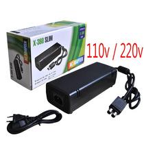 Fonte Xbox 360 Slim Bivolt 110v 220v 135w Ac C/ Cabo D Força