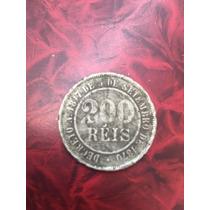 Moeda De 200 Reis De 1887 - Império - Cuproniquel