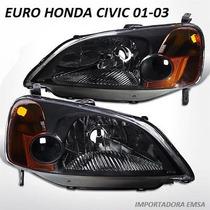 Focos Euros Civic 01 - 03 Jdm , Oferta