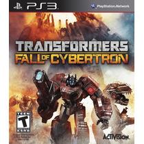 Transformers Fall Of Cybertron Ps3 Mídia Física Lacrado