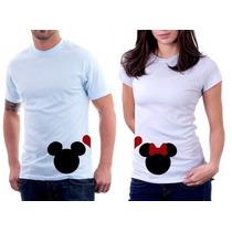 Camisetas Para Casal Mickey E Minnie 100% Algodão