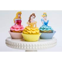 Toppers Para Cupcakes Princesas 3d