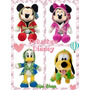 Mickey Minnie Pluto Donald Peluche 25cm Disney Original Sipi
