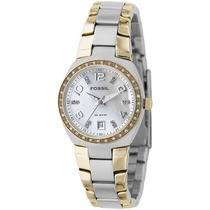 Relógio Feminino Fossil Am4183 Dourado Prata Novo Original