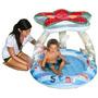 Piscina Inflable Con Piso Y Techo Playa Jardin Niños
