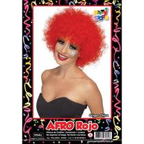 Peluca Afro Rojo Cotillon