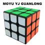Cubo Moyu Yj Guanlong 3x3 Fondo Negro Original Rubik Speed