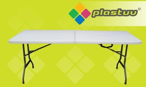Mesa plegable de pl stico portafolio 1 en for Mesa plegable mercado libre