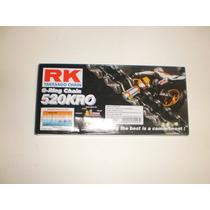 Corrente De Transmissão Rk C/retentor 520x114 L Varias Moto