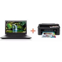 Notebook Lenovo B51 30 + Impresora Epson Xp 231 Wifi Oferta!