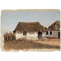 Lienzo Tela Frederic Edwin Church Dos Casas En El Campo Arte