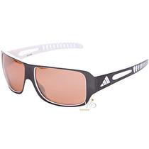 Óculos De Sol Masculino Adidas Cinza Prata Branco Original