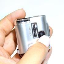 Lupa Microscópio 60x Com Led E Uv 2388 Super Portátil