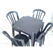 Mesas E Cadeiras De Plastico Goyana-jogo De Mesa Colorido.