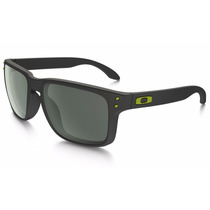 Óculos De Sol Oakley Holbrook Matte Black - Lente Dark Gray