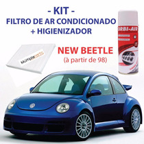 Kit New Beetle Filtro De Ar Condicionado +spray Higienizador