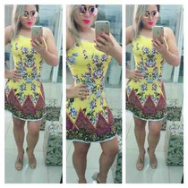 Vestido Feminino Estampado Balada Panicat Lançamento Verão