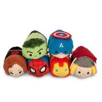 Marvel Coleccion 6 Mini Tsum Tsum De Felpa 8cm Nuevos Disney