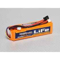 Bateria Hobbyking 1500 Mah Life 3s 9.9v Turnigy 9x Futaba Jr