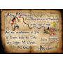 24 Tarjetas Cumpleaños 7x10 Cm. Bifaz Pergamino Pirata Jake
