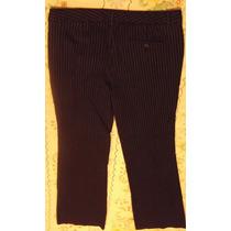 Pantalon Express T/10 32-34 Negro Con Rayitas Plateadas