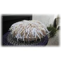Almohadon Crochet Totora Con Flecos