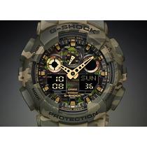 Reloj Casio G-shock Camuflado Ga 100cm En Stock Exclusivos