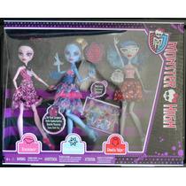 Set Draculaura Abbey Y Ghoulia Monster High