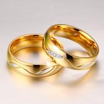 Alianças Baratas Casamento Noivado Ouro 18k C/ Brilhantes