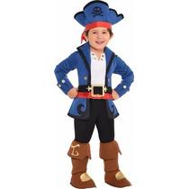 Disfraz Jake El Pirata Capitán 3/4 Años Original Entrega Inm