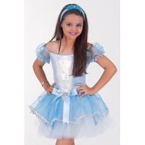 Fantasia Bailarina Frozen Infantil Luxo