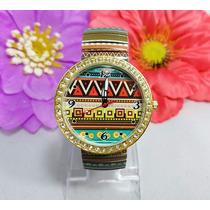 Reloj De Moda Dama Mayoreo Casual Tribal Vintage