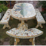 Juego De Jardin Cemento Ceramica Directo Fabrica Zona Sur